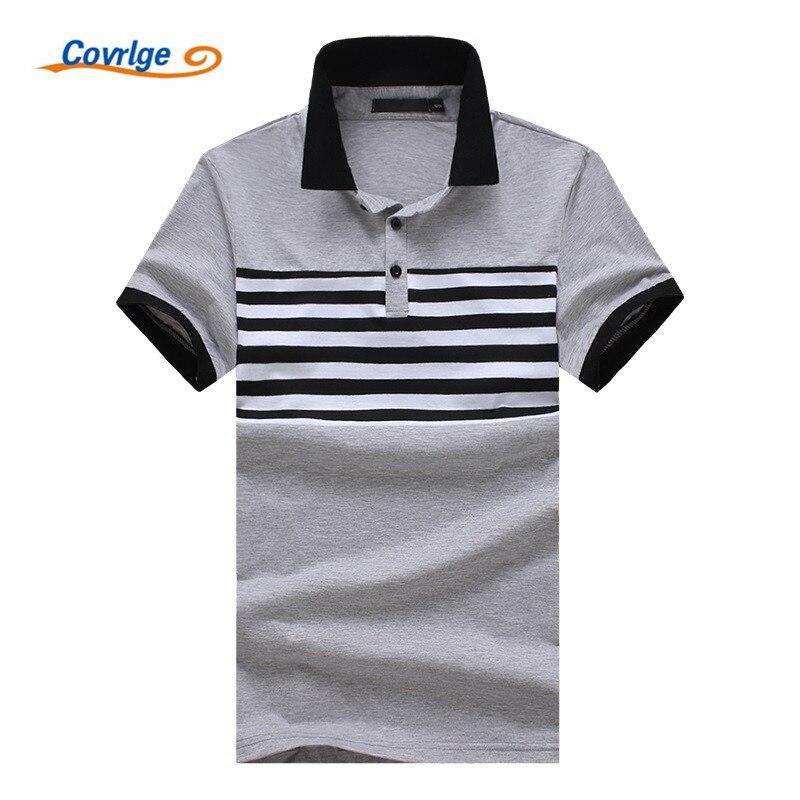 Covrlge 2018 Fashion Brand Striped Men   Polo   Shirt Short Sleeve   Polo   Shirt Mens Summer Casual Top Shirts Male Clothing MTP081