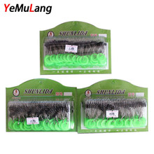 YeMuLang 100 Piece/box S/ M/ L Plastic Space Bean Rolling Swivel Fishing Tackle Pesca Carp Fishing Connector Float For Fishing