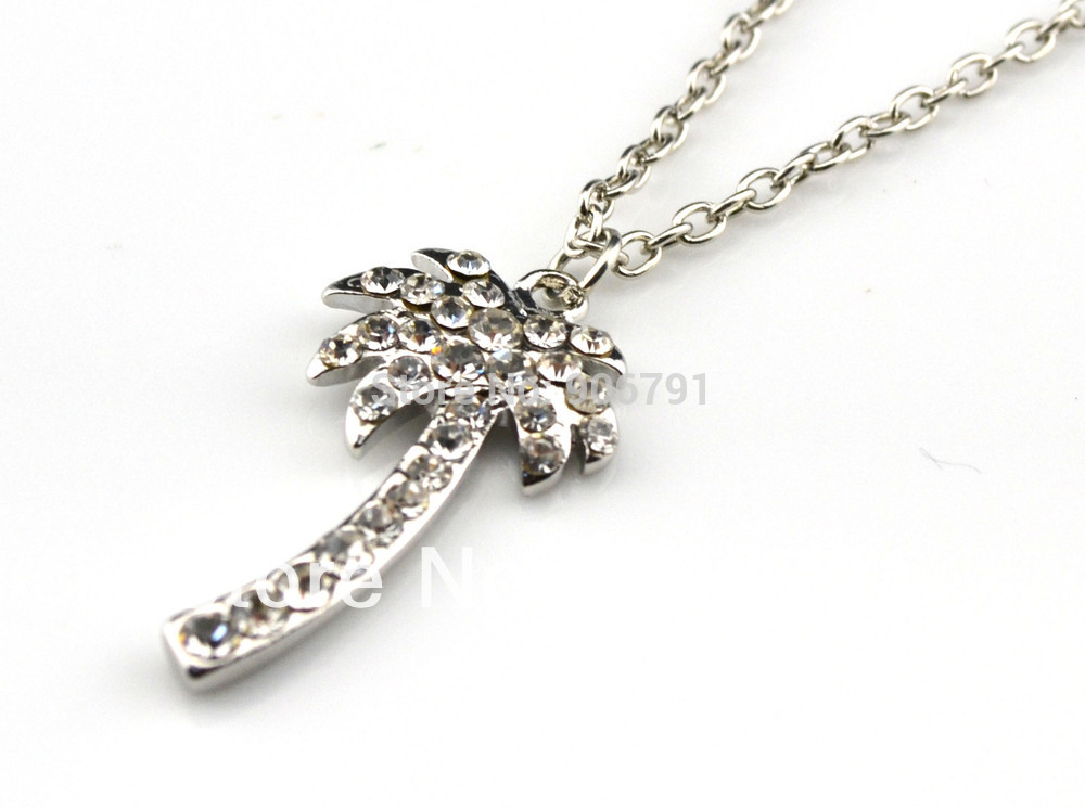 Crystal palm tree pendant necklace in pendant necklaces from jewelry crystal palm tree pendant necklace in pendant necklaces from jewelry accessories on aliexpress alibaba group aloadofball Images