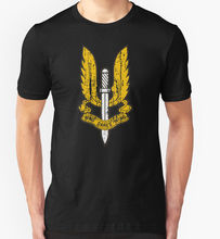 Custom Shirts  Deals As Who Dares Wins Army Special Air Service Military O-Neck Short Sleeve Compression Mens T