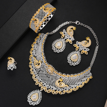 SisCathy Famous Super Brand 4 PCS Big statement Necklace Bangle Earrings Ring Jewelry Sets For Women Wedding African Accessories