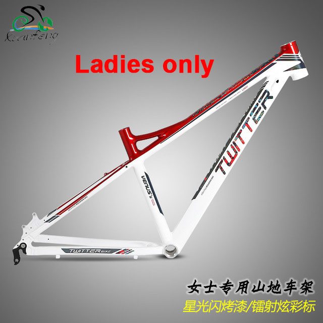 TWITTER MTB BIKES LADY WOMEN ONLY FRAME 26/27.5*15.5/17 MOUNTAIN BICYCLES ALUMINUM ALLOY FRAME CYCLING PARTS стоимость