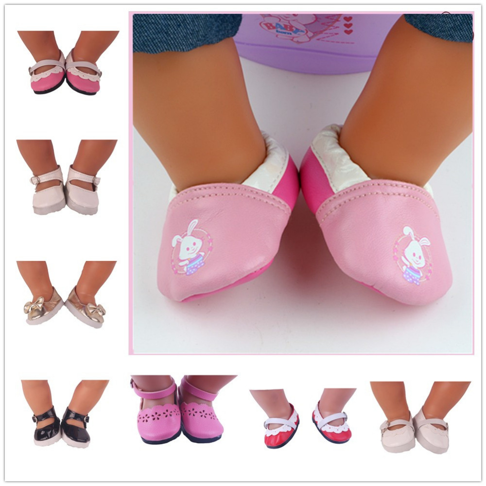 8 Styles shoes Wear fit 43cm Baby Born zapf, Children best Birthday Gift