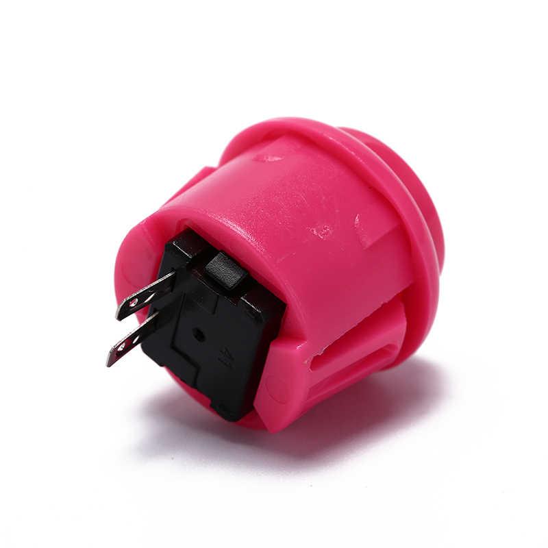 10 ピース内蔵小型マイクロスイッチ Diy のアーケードコントローラ Jamma Mame 24 ミリメートル工場価格アーケードボタンラウンドプッシュボタン