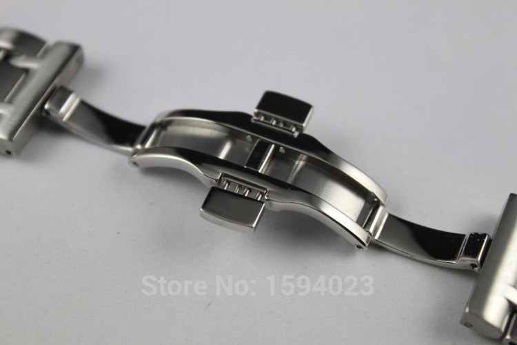 Купить с кэшбэком 24mm T035627 T035614 New Watch Parts Male Solid Stainless steel bracelet strap Watch Bands For T035