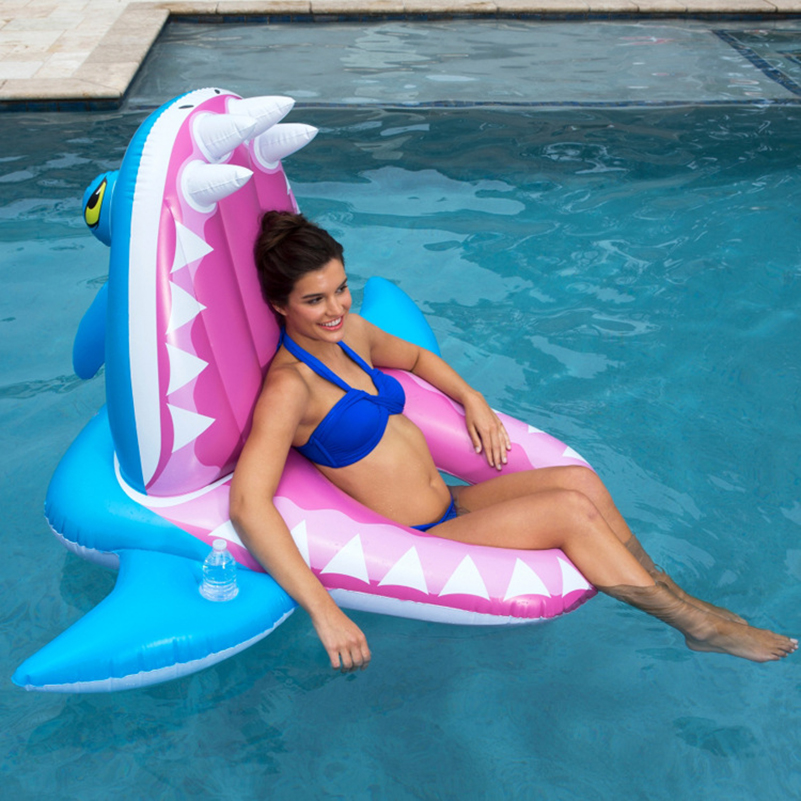 YUYU 160cm Inflatable crocodile Pool Float Swimming ring Swim Ring Swimming Float Lounge chair float pool