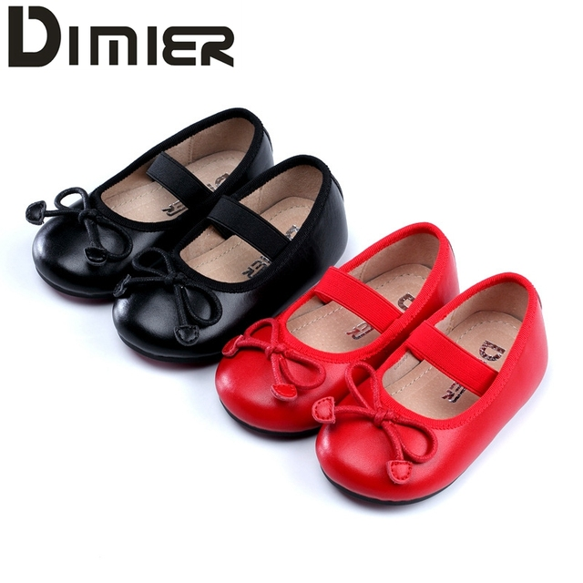 Genuine Cowhide Leather Toddler Baby Girl Shoes Princess Bowknot  Children Girls Wedding Dress Shoes  Kids Student  Party Shoes