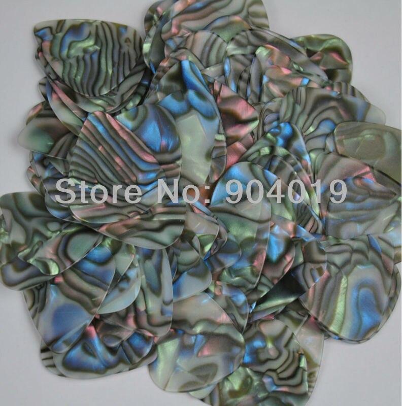 Lots of 100 pcs new medium 0.71mm Blank guitar picks Abalone Seashell color No Print