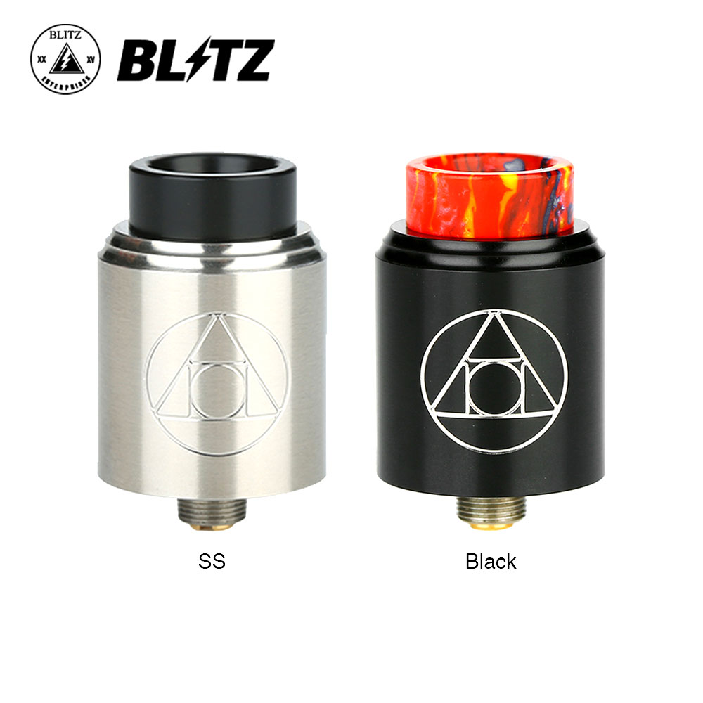 New Original Blitz Hermetic RDA Single Coil Rebuildable Atomizer 22mm RDA Tank & BF Pin for 510 Box Mod / Squonk MOD Vs Drop Rda цена