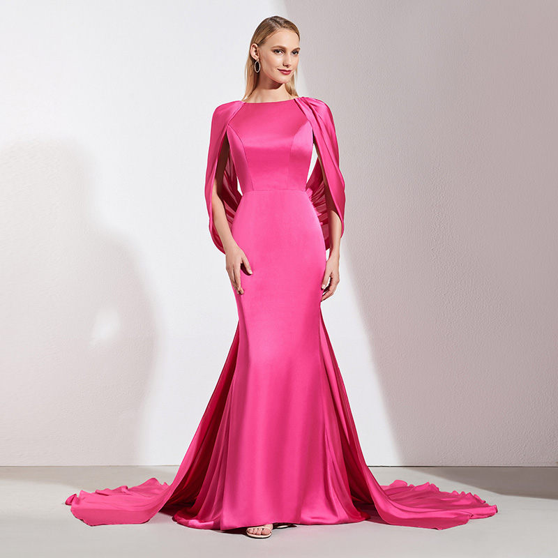 fab7cdaaf6320 US $109.55 48% OFF|Tanpell backless long evening dress light plum floor  length court train gown women formal celebrity plus custom evening  dresses-in ...