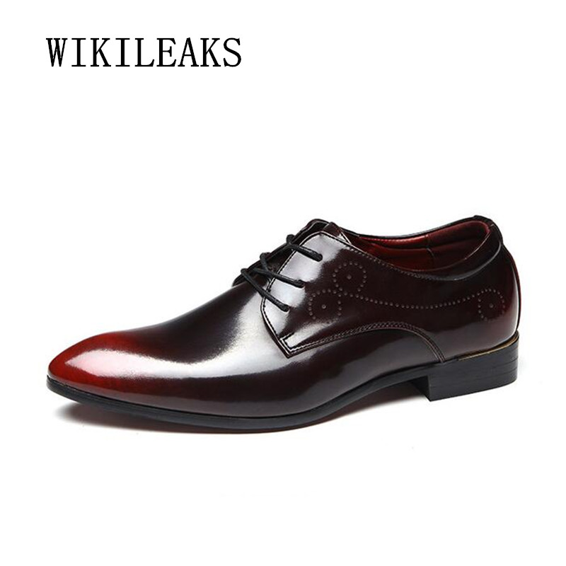 2018 bullock carved men shoes oxford shoes for men leather dress shoes men wedding shoes zapatos hombre casual sapato masculino