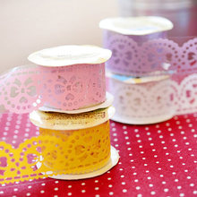 Romatic Lovely Lace Decorative Roll Tape Washi Paper Decorative Sticky Masking Self Adhesive Tape DIY Scrapbooking  недорого