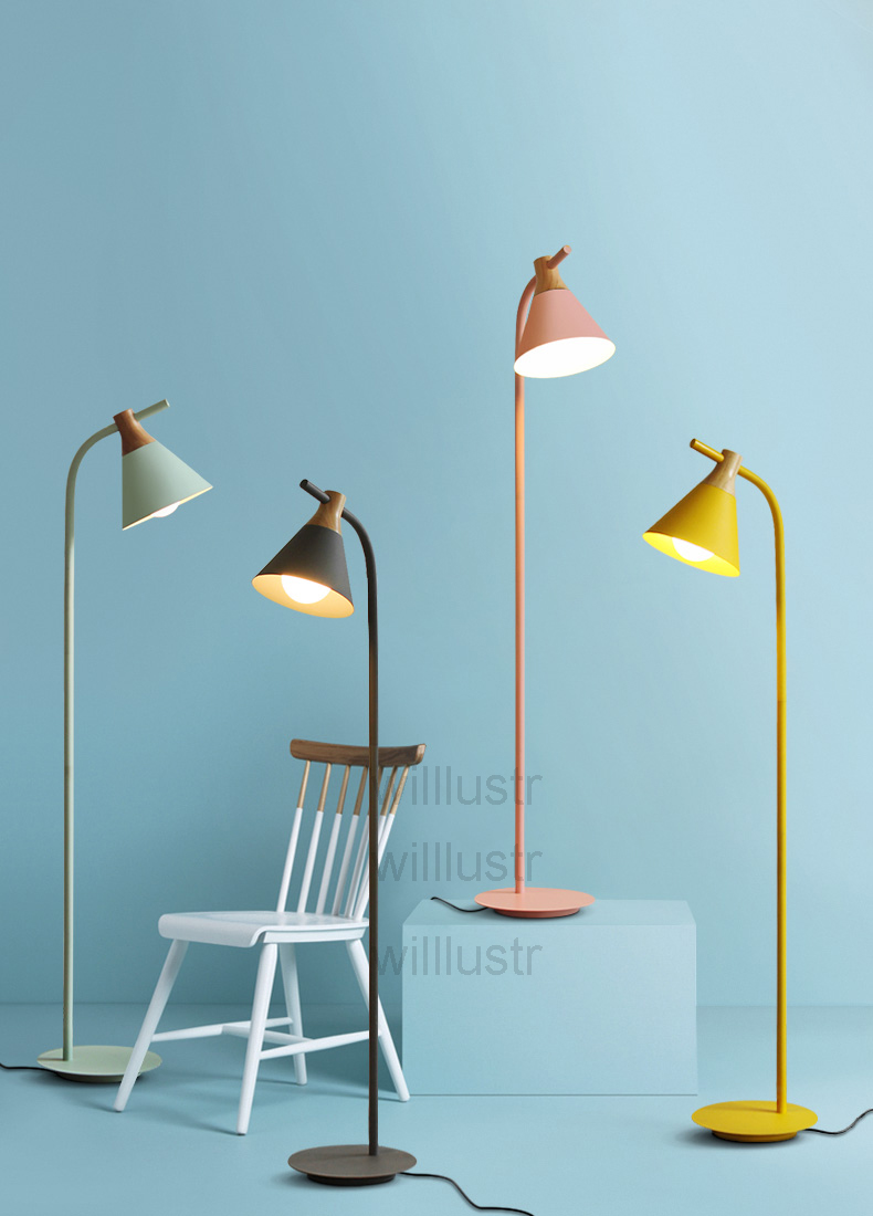 Modernes Design Stehlampe Nordic Beleuchtung Macaron Farbe Lampen