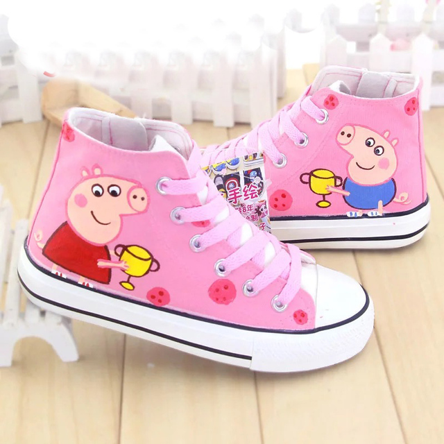 98bc84d64c7a pink pig children customized shoes spring kids sneakers cartoon fashion  boys girls flats shoes with individuality