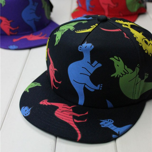 special design cute new style lovely baseball cap dinosaur flat brim caps the good toddler hat