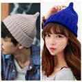 Hot Women Hats Autumn Knitted Warm Hat Sharp Top Winter Hats for Men Unisex Beanies Cap Solid Color Cappello Chapeu