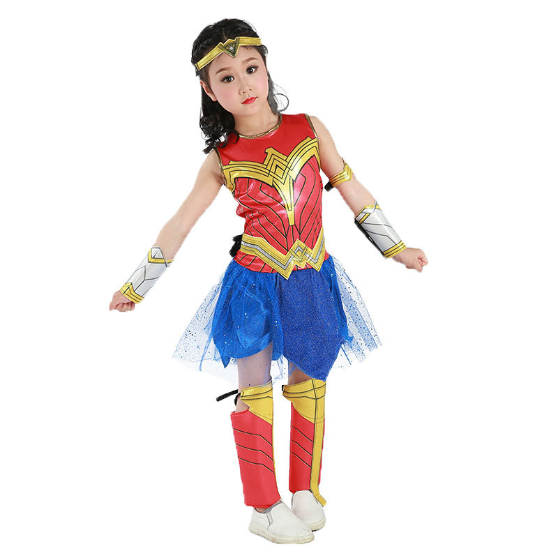 Wonder Girl Costume Halloween Costumes For Child Custom Made Justice League Wonder -6073