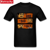 Short Sleeve Crewneck Cotton The Good The Breaking Bad And The Ugly T Shirts Custom Print