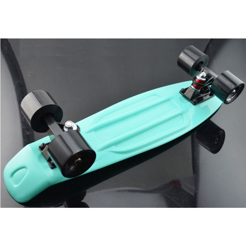 "Mint Plastic Penny Board Mini Cruiser Skateboard  22"" Retro Longboard No Assembly Required Complete Board"