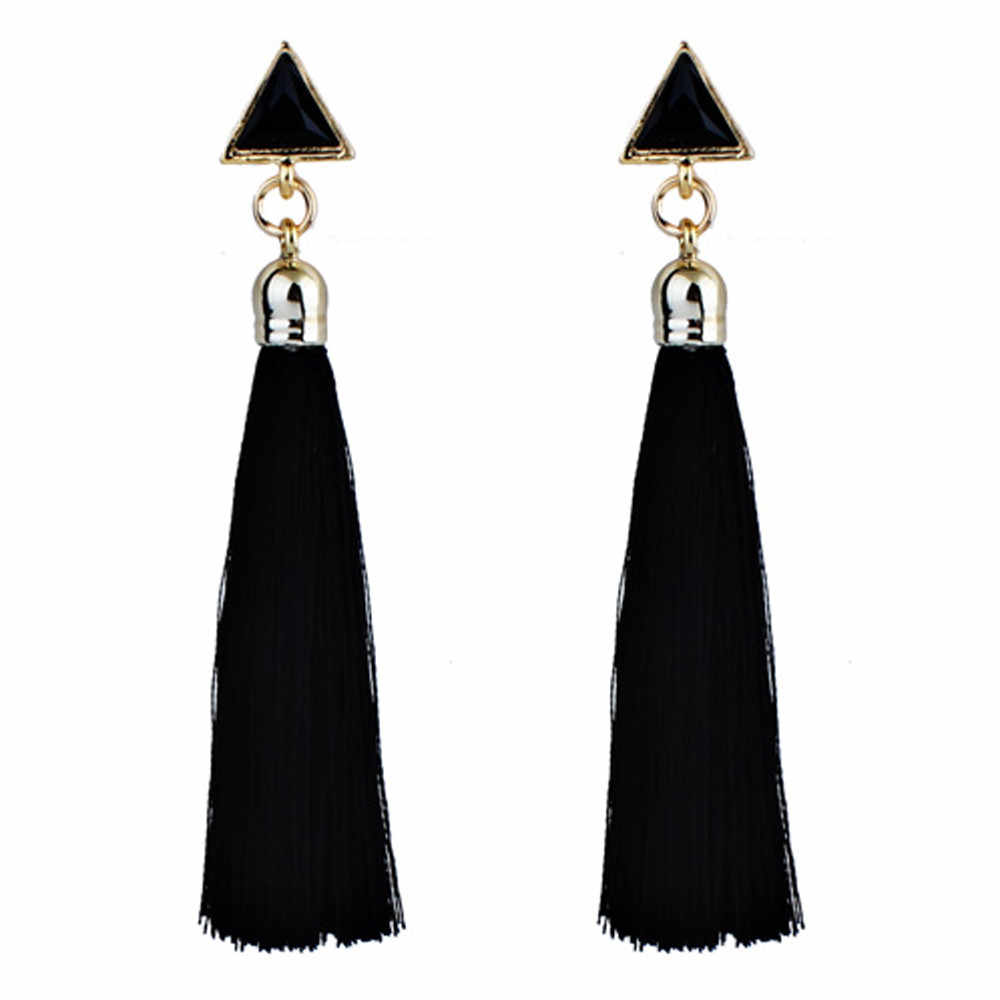 Bohemian style earring Women Ethnic Hanging Rope Tassel Earrings aretes de mujer