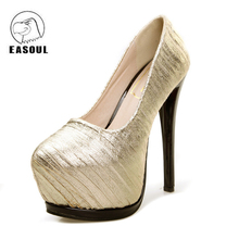 Female high-heeled shoes 2017 Europe and America women's shallow shoes fashion stripes waterproof high-heeled sexy single shoes