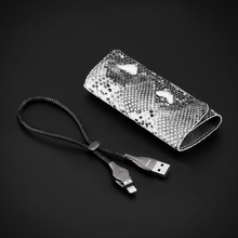 3A Fast Charger Data Cable for iPhone 7 6 8 X With Swarovski Crystal Snake Shape USB Cable for iPhone 5 5S Benks