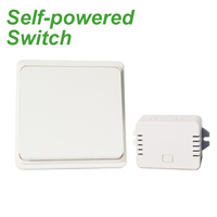 Augia Free Shipping Self Powered Wireless Push Button Wall Switch For Bathroom
