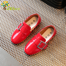 J Ghee 2017 Spring Hot Girls Shoes PU Patent Leather Dancing Kids Single Shoes For Girls Buckle Simple Elegant Casual Sneakers