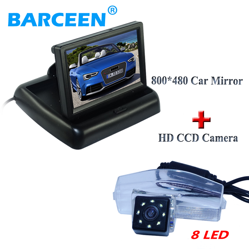 Hot selling car rearview camera shockproof with 8 led wire car display monitor suitable for MAZDA