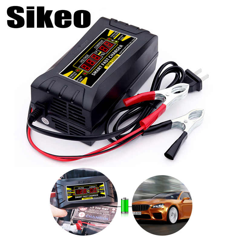 Full Automatic Auto Car Battery Charger 150V-250V To 12V 6A Smart Fast Power Charging Suitable for Car motorcycle With EU Plug