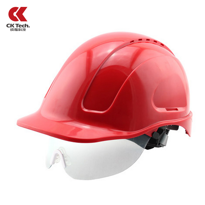 Building Construction Safety Helmet With Goggle Glasses ABS Safety Hat Capacete Bombeiro Anti Collision Work Cap NTC-3 classic solar energy safety helmet hard ventilate hat cap cooling cool fan delightful cheap and new hot selling