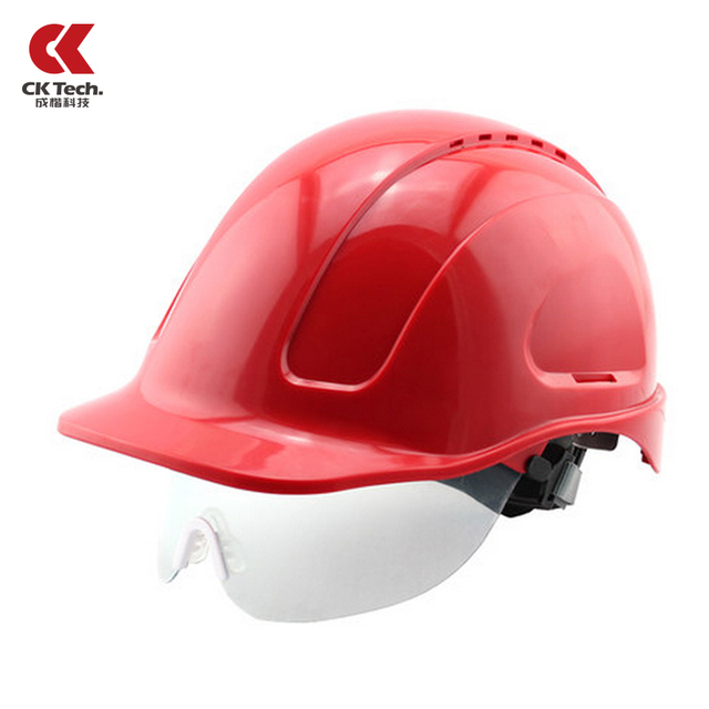 Building Construction Safety Helmet With Goggle Glasses ABS Safety Hat Capacete Bombeiro Anti Collision Work Cap NTC-3