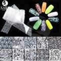 1 pacotes de 100x4 cm Flor Do Laço DIY Designs Prego Foils Adesivo DIY Adesivo Cola em Unhas Instrumentos de Manicure Nail Art Wraps LM01-10