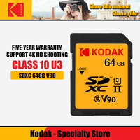 Kodak SD card 64gb 128gb memory card UHS II high speed 280M / s carte sd SDXC camera 4K Micro single U3 HD shooting