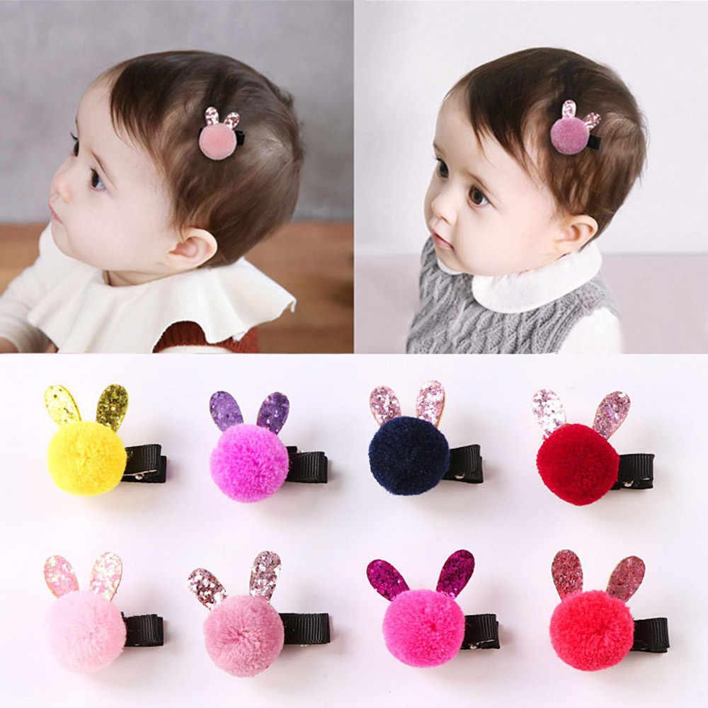 Lovely Cute Fruit BB Clips Cartoon Rabbit Candy Color Hair pins Girls Hair Accessories Children Headwear Baby Kids Hair Clip