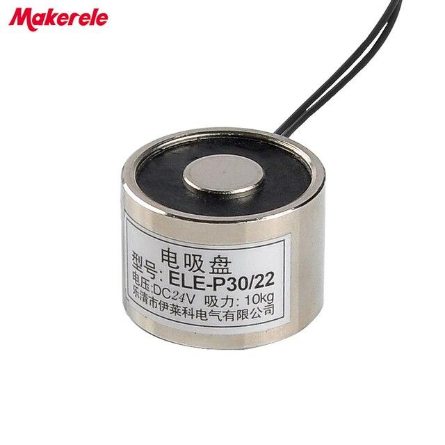 MK30/22 Halten Elektrische Magnet Hebe 10 KG/100N Magnet Sucker ...