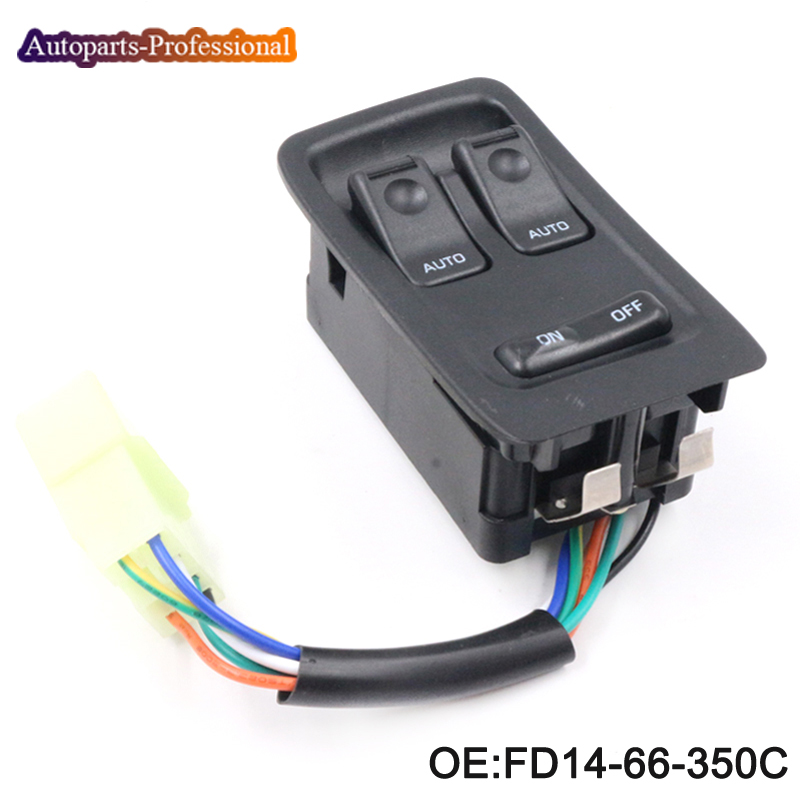 YAOPEI New FD14-66-350C Left Side Master Window Switch Fit For Mazda Rx7 Rx-7 1993-2002 High Quality 1993 2002