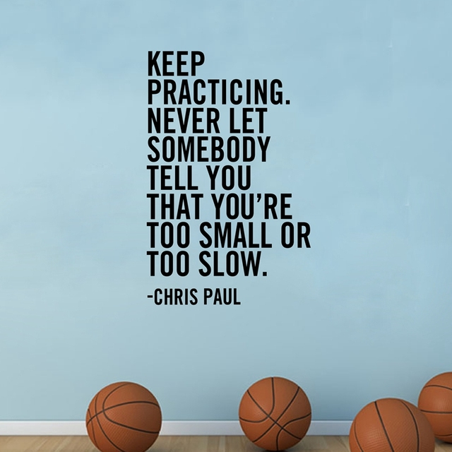 Famous Basketball Player Inspiration Quote Vinyl Wall
