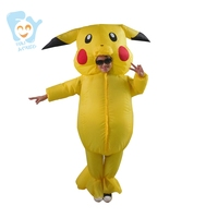 Pikachu Costume Cosplay Pokemon Inflatable Pikachu Onesie Kids Fancy Mascot Dress For Boys Girls