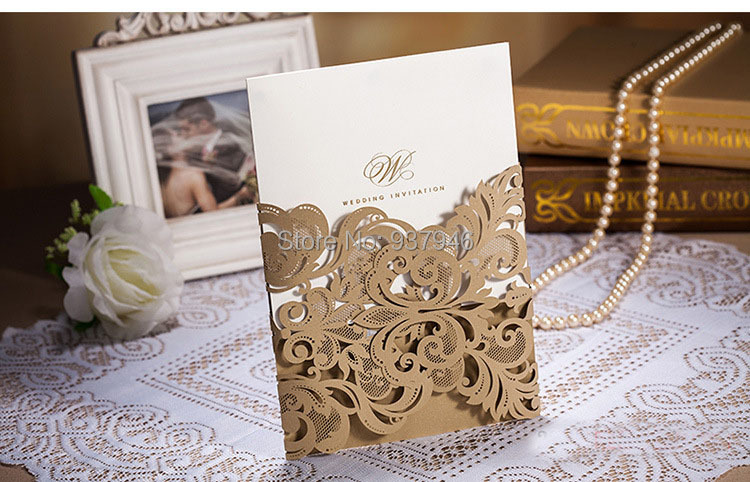 Sample Link Whole Wedding Invitations Elegant Laser Cut Invitation Paper Card In Cards From Home Garden On
