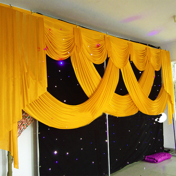 20ft long elegant and luxury wedding backdrop swags drape for wedding backdrops decoration event party china supplier 2019