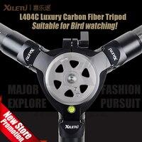 Xiletu L404C 40 мм трубы профессиональный стабильной фотографии наблюдение за птицами углеродного волокна штатив для цифровой Камера видеокамер...