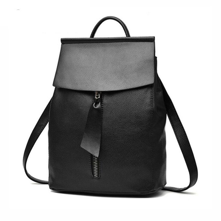 7fc752b3426 Women Fashion PU Leather Backpack Elegant Bags Computing style ...