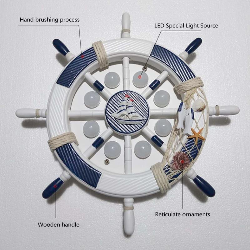 2019 europäischen stil Pirate Boot Ruder Bluetooth Decke Lichter 220V led Lampe Kinder Flush Mount Kinder Zimmer Kind Beleuchtung - 3