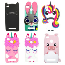 For Xiaomi Redmi 4A Case Soft Silicone Coque Phone Back Cover 3D Animal Unicorn Horse Cat Cute Bag Shell Funda