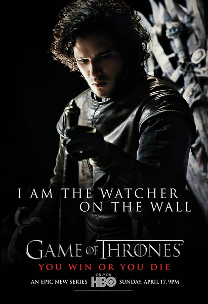 The Watcher On The Wall Season 1 Game Of Thrones Us Tv Vintage Retro Poster Decorative Diy Wall Canvas Stickers Home Posters Art