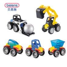 Beiens Conjunto Modelo de Construção de Plástico Iluminar Tijolos de Brinquedo Magnético Modelo & Veículo de blocos de construção DIY brinquedos para crianças