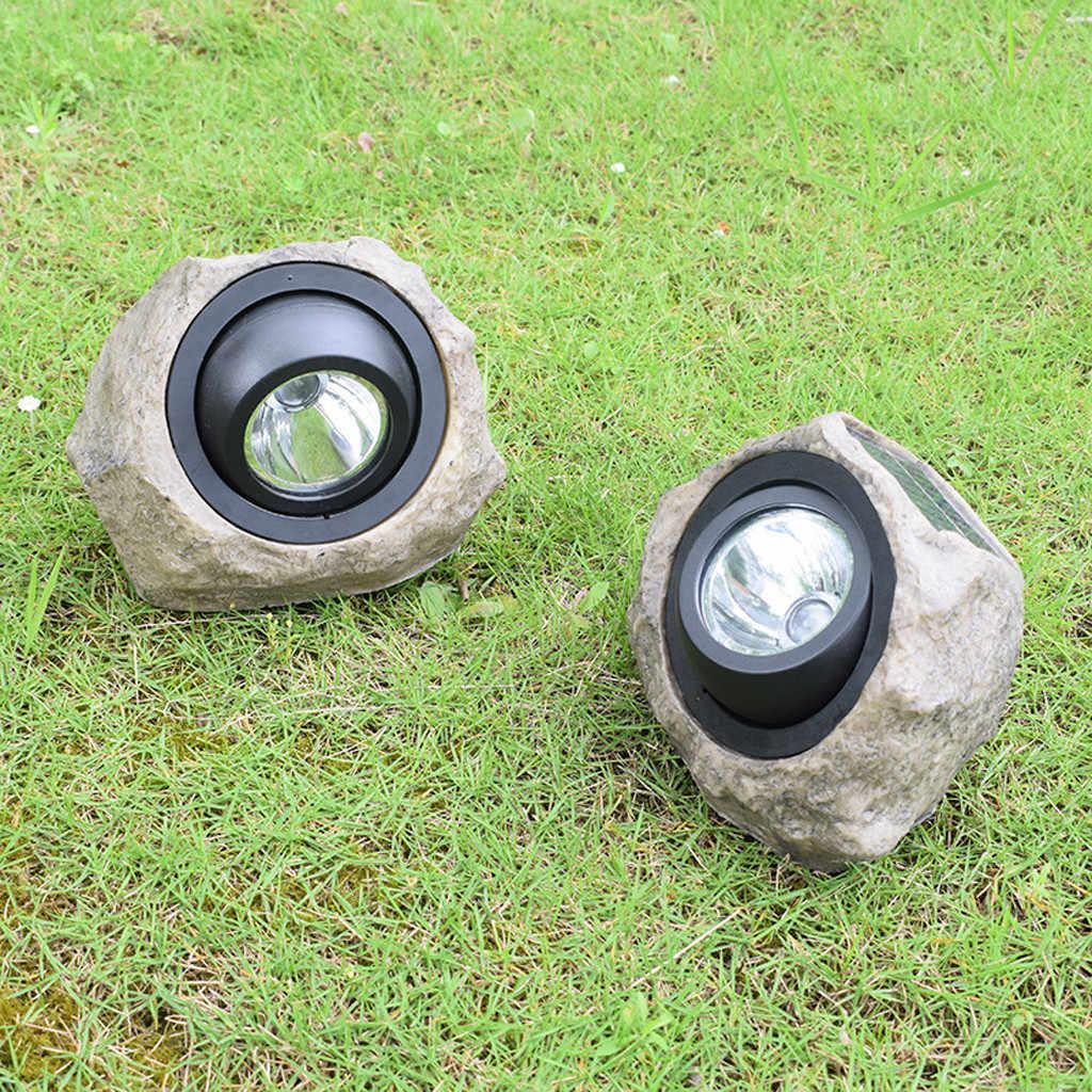 Креативный большой уличный светодиодный фонарь, солнечный декоративный камень, точечные светильники, лампа для двора, decoracion, din, наружный светодиодный сад