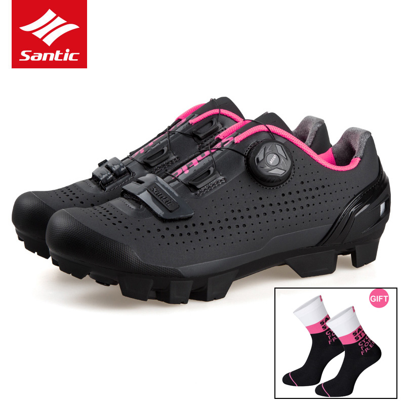 Santic Typical Style Cycling Shoes for Women MTB Mountain Bike Shoes Off Road Bicycle Sneakers Breathable(China)