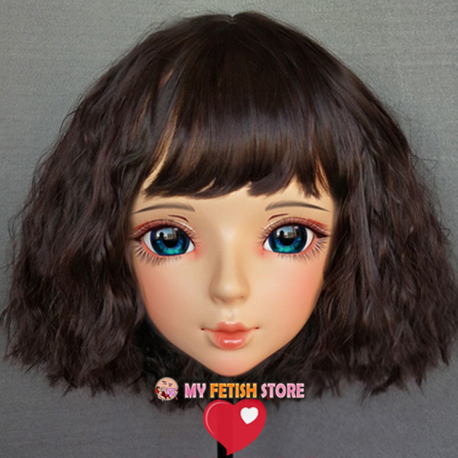 female Sweet Girl Resin Half Head Kigurumi Bjd Mask Cosplay Japanese Anime Role Lolita Mask Crossdress Doll Mask Good For Antipyretic And Throat Soother Novelty & Special Use shi-05